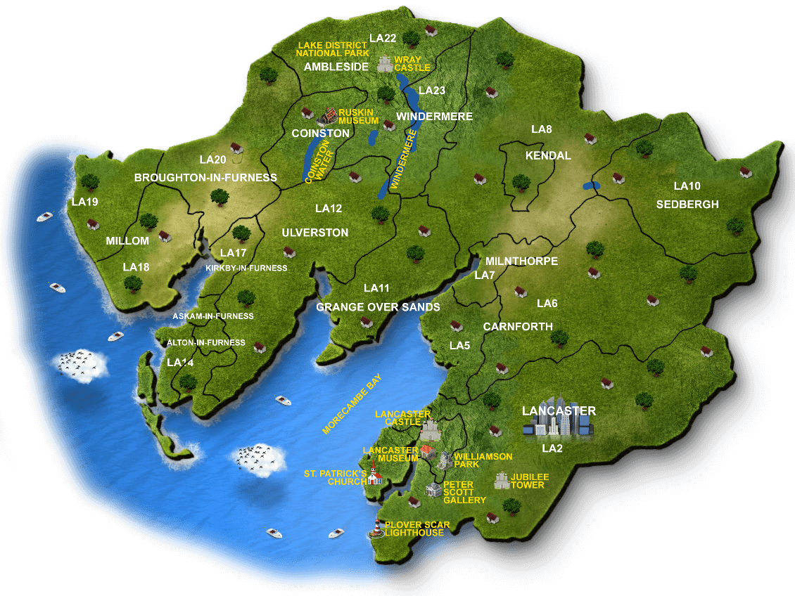 Map of The Lake District